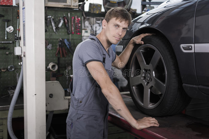 Car mechanic royalty free stock photo