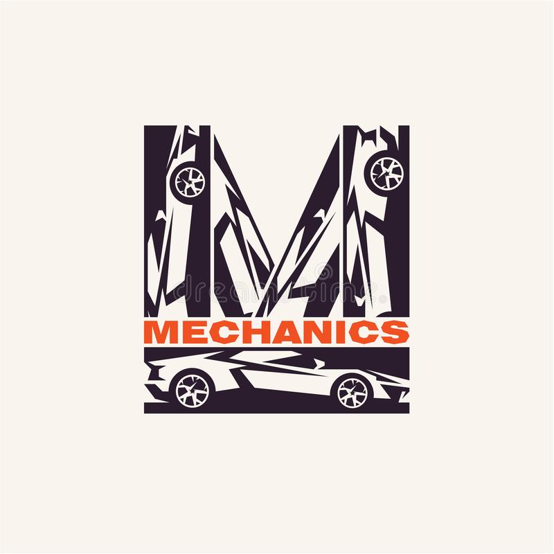 Car mechanics logo stock illustration