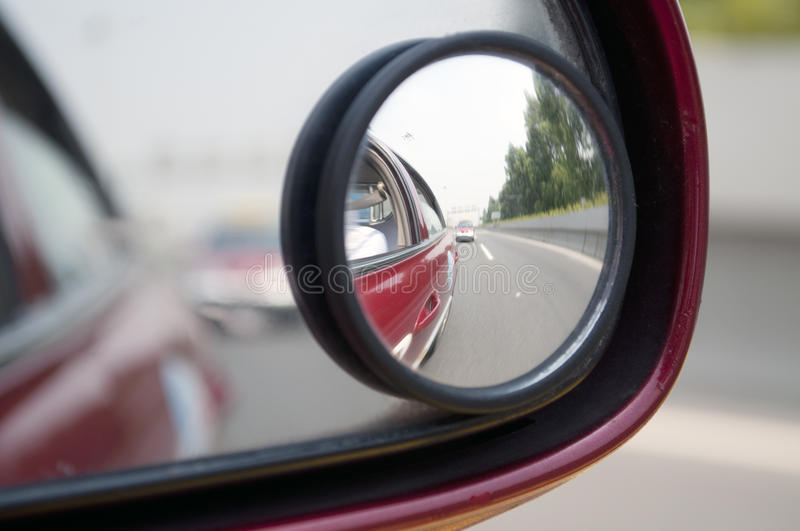 Car mirror. The photo of Car mirror royalty free stock photography