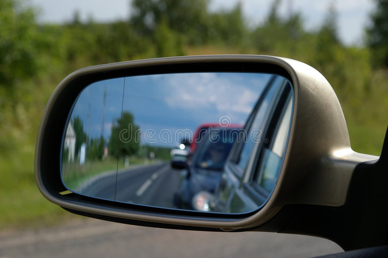Download Car mirror stock image. Image of look, reflection, road - 195281