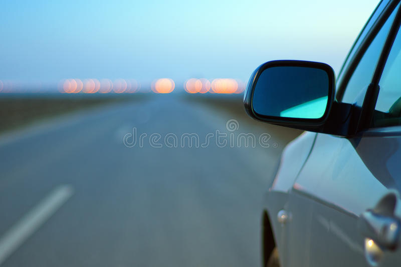 Car mirror stock photo