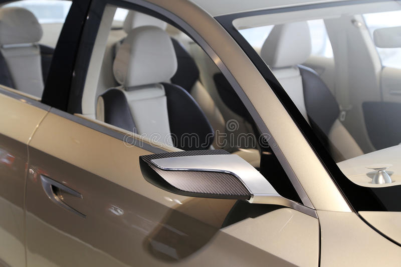 Car mirror. Of Audi concept car royalty free stock photo