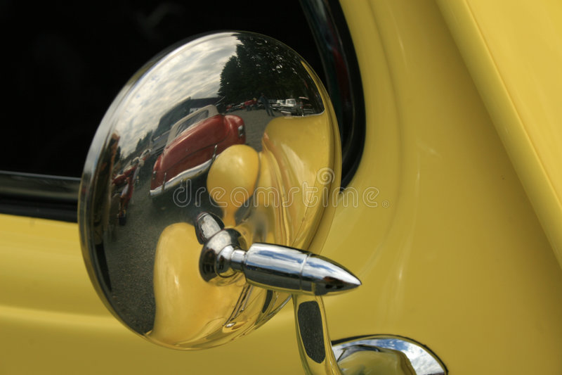 Car mirror royalty free stock photography