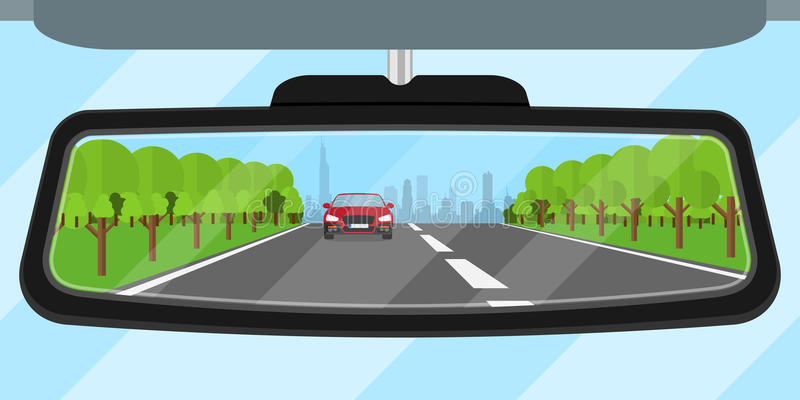 Car mirror stock illustration