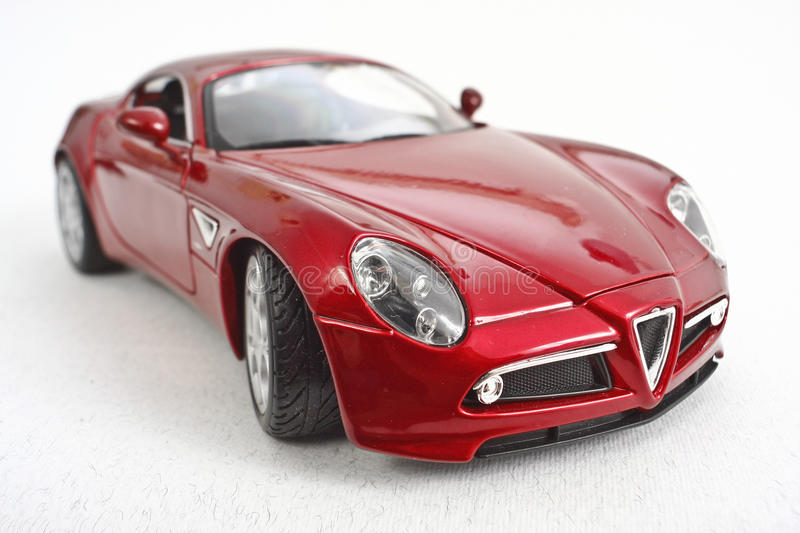 Car Model on White Background. Car model perspective view on white background stock images