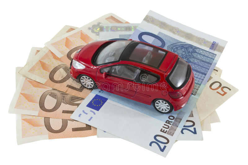 Car and money royalty free stock photo