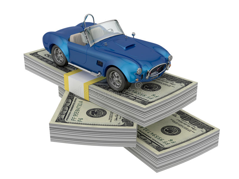 Download Car on money stock illustration. Image of leasing, credit - 24321236