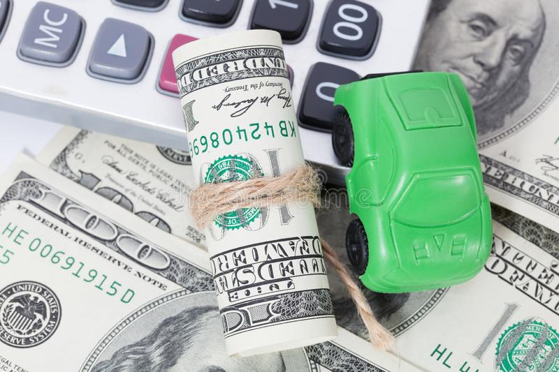 Car money and calculator. Payments and costs. Car money and calculator. Payments and costs stock photos