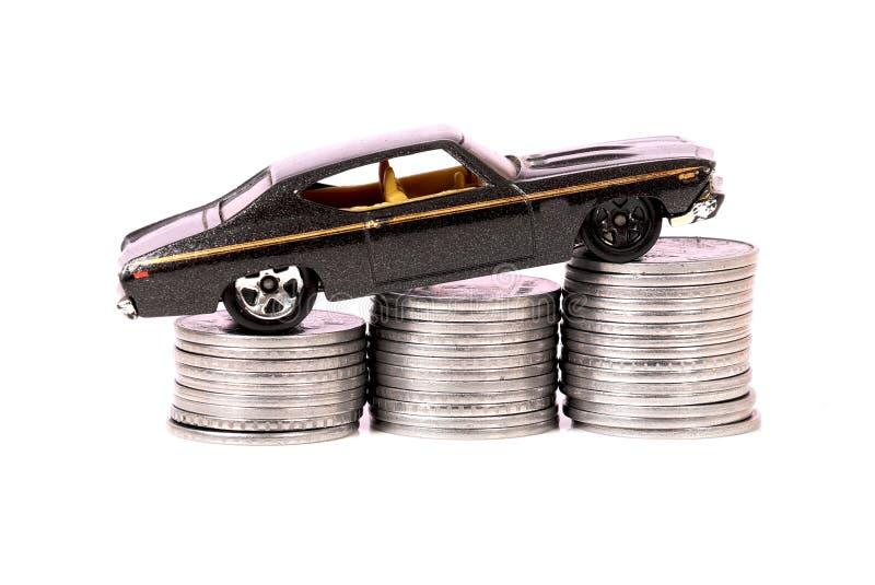 Car and money royalty free stock photos