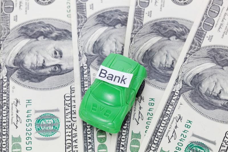 Car money With sign - Bank. Payments and costs. Car money With sign - Bank. Payments and costs royalty free stock photo