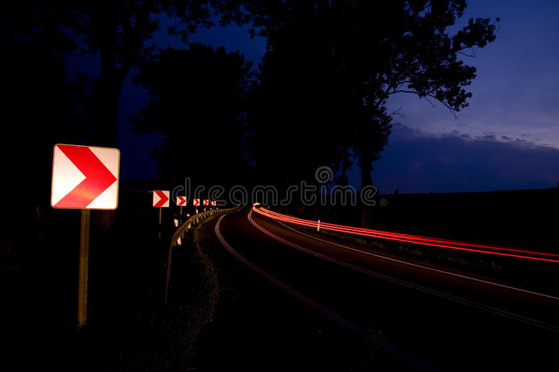 Car Motion On Bend Stock Photography