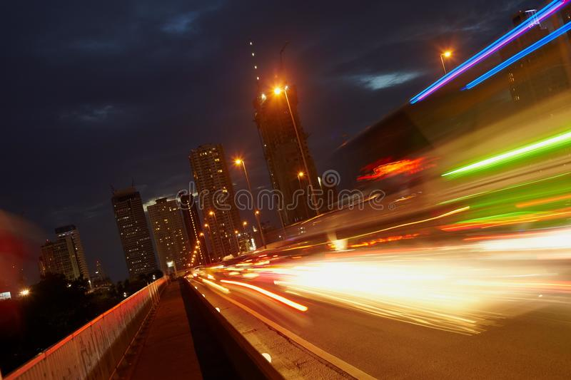 Download Car Motion And City Scrapers Stock Image - Image: 26375153