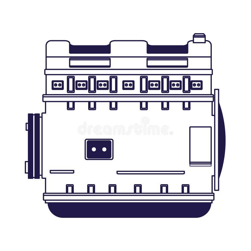 Car motor icon, flat design. Car motor icon over white background, flat design, vector illustration royalty free illustration