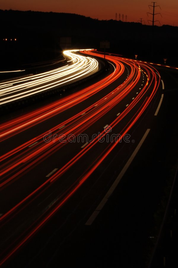 car in the Motorway Lights royalty free stock photos