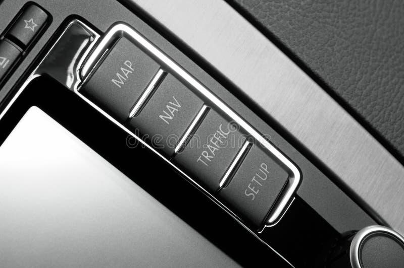 Car navigation panel royalty free stock images