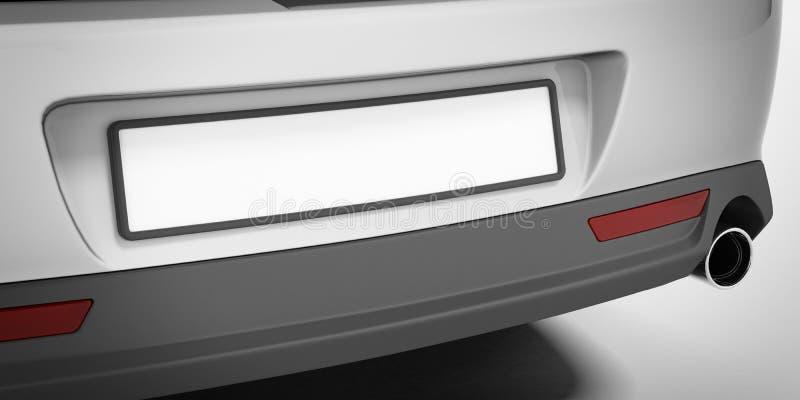 Car number plate stock illustration