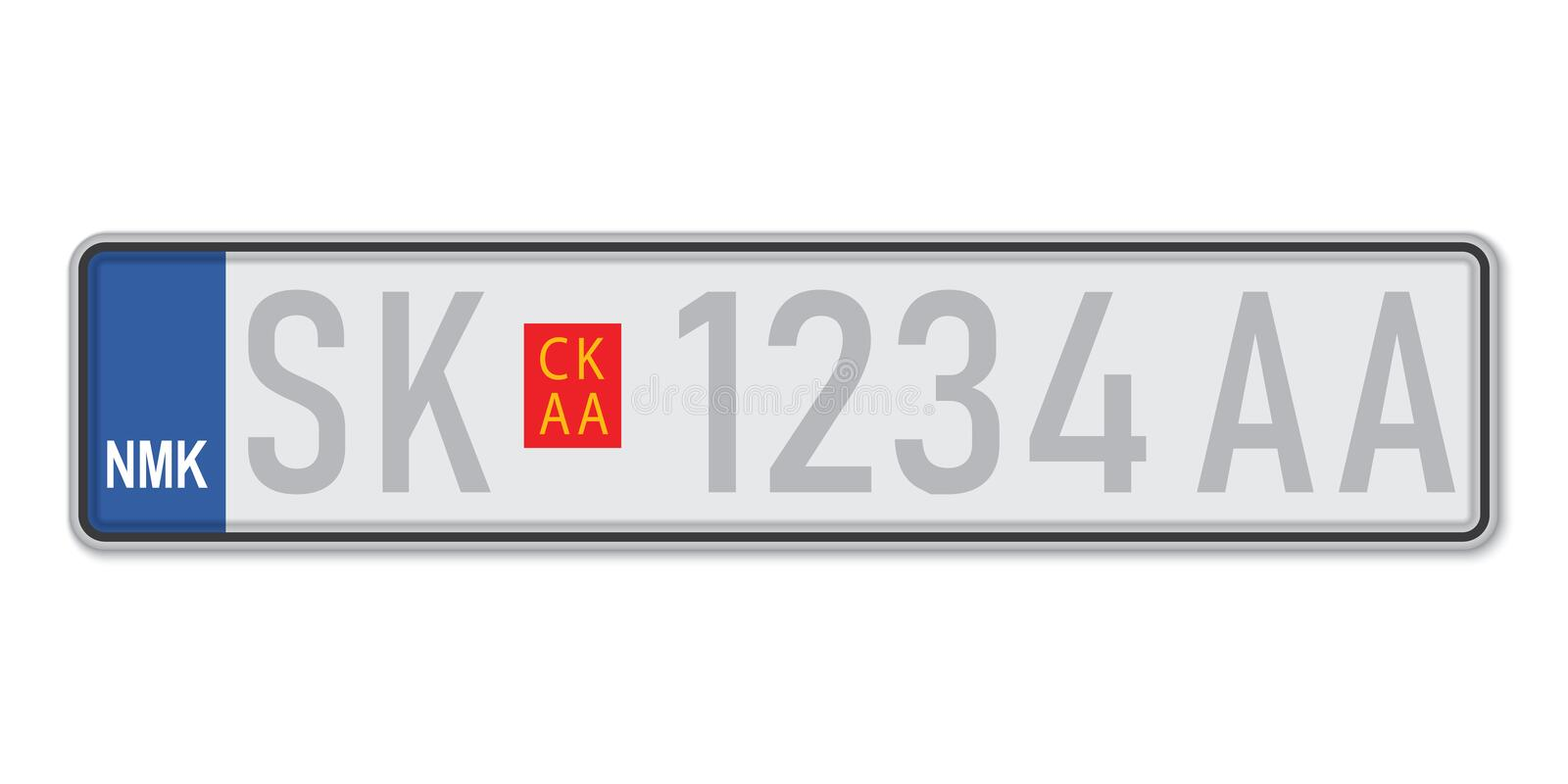 Sizes number plate Guide To