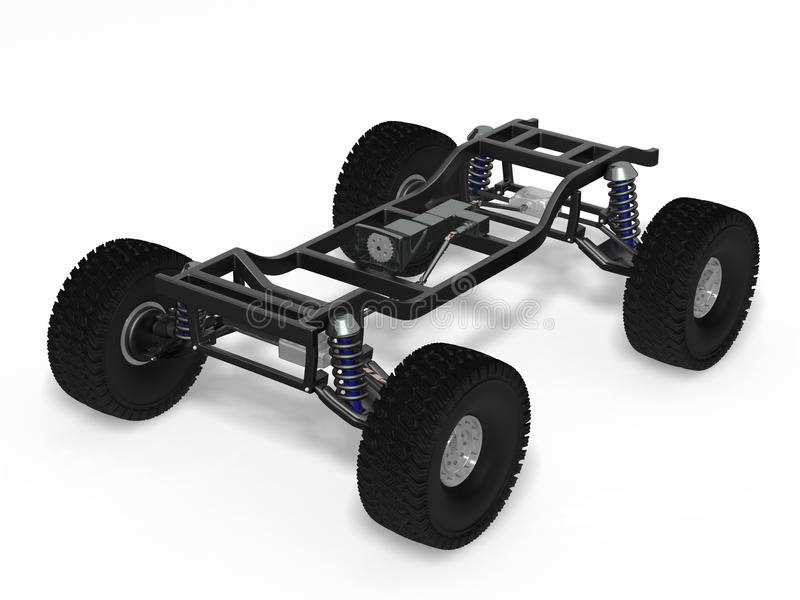 Car off-road chassis royalty free illustration