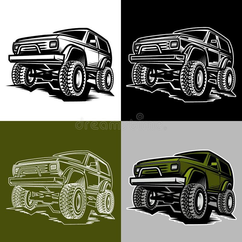 Car off-road 4x4 suv trophy truck royalty free illustration