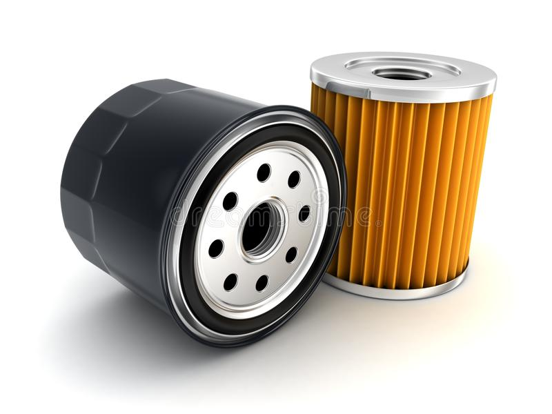 Car Oil filter vector illustration