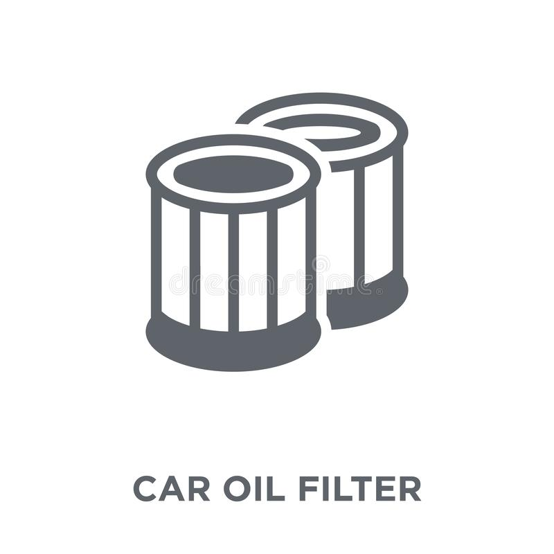 car oil filter icon from Car parts collection. royalty free illustration