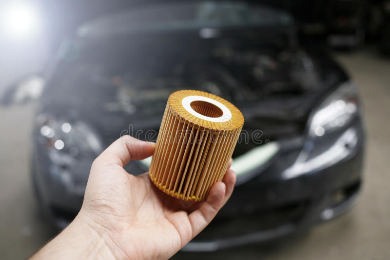 Car oil filter royalty free stock image