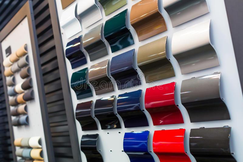 Car Paint Samples Royalty Free Stock Photo