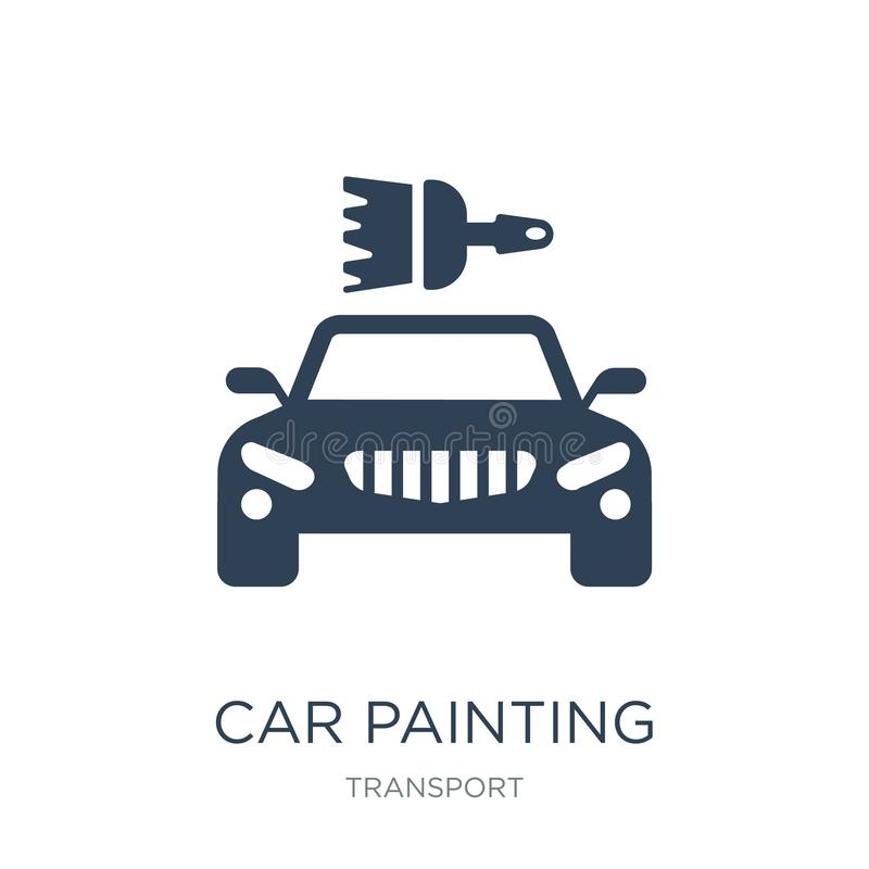 car painting icon in trendy design style. car painting icon isolated on white background. car painting vector icon simple and vector illustration