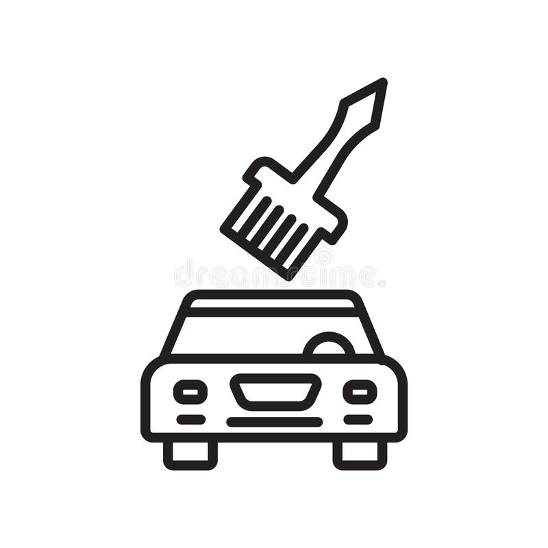 Car painting icon vector sign and symbol isolated on white background, Car painting logo concept royalty free illustration