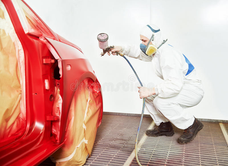 Car painting technology stock photography
