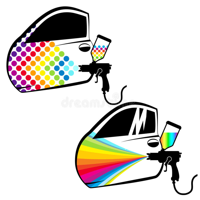 Car painting vector stock illustration