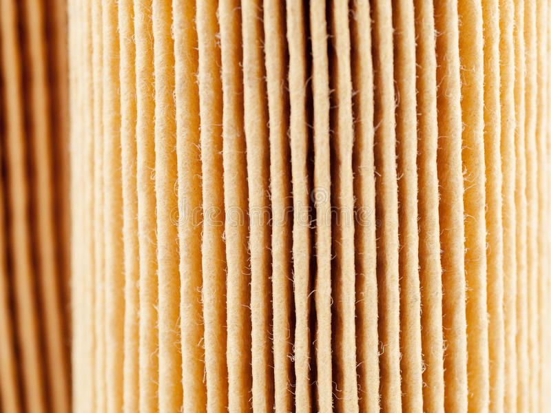 Car paper air filter surface, focus stacking stock photo