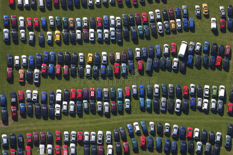 Download Car park rows stock image. Image of wave, colours, carpark - 19540469