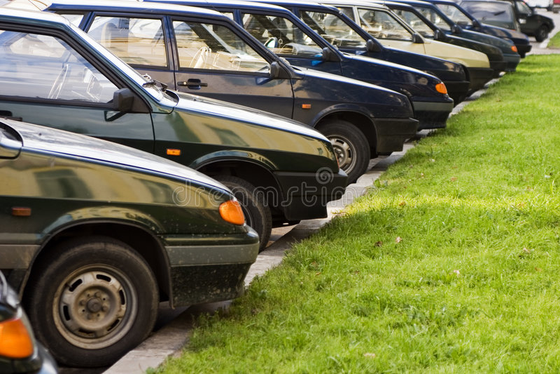 car parking royaltyfria foton