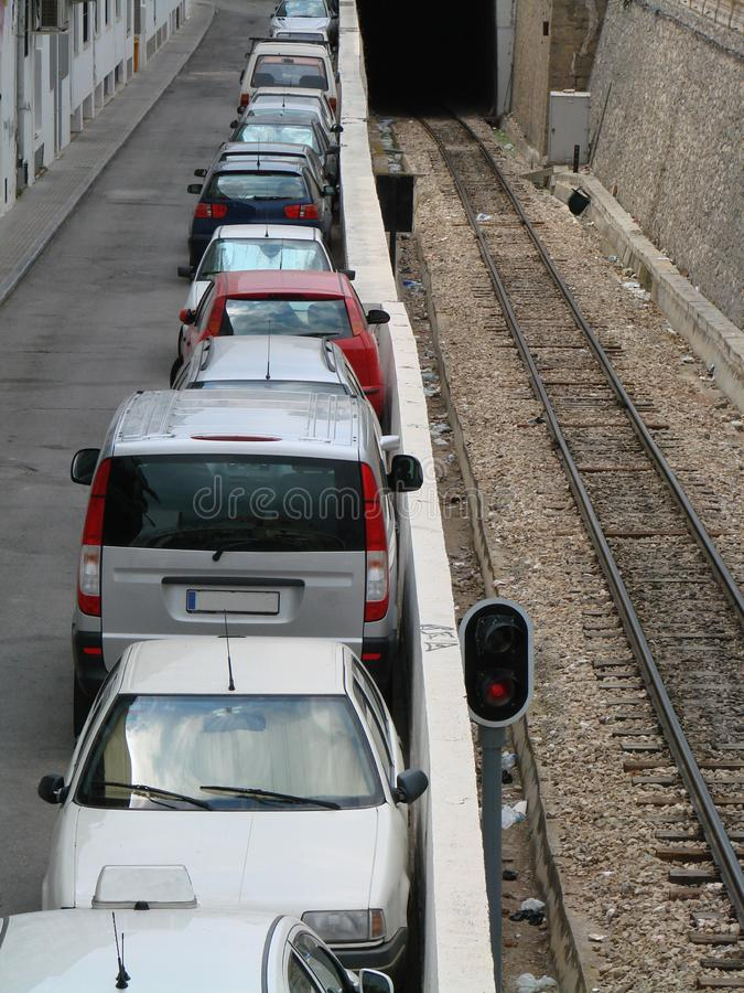 Download Car parking stock image. Image of space, funicular, rails - 8992887