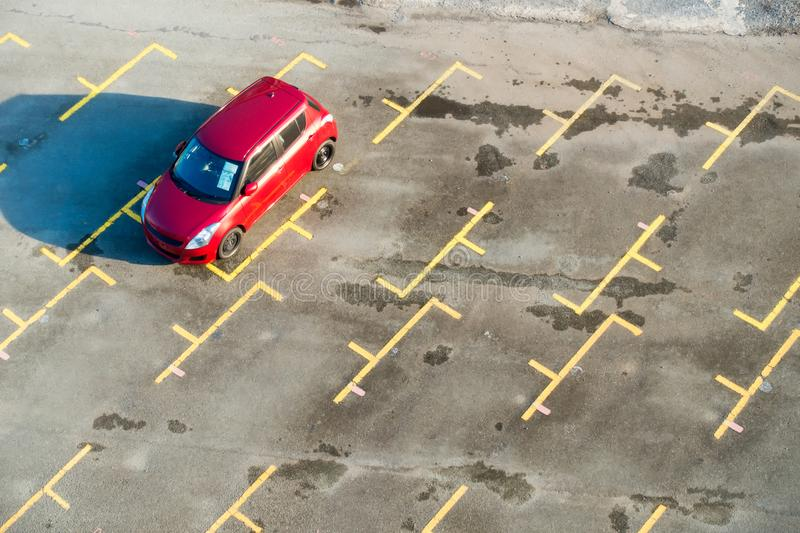 Car parking and empty parking lots, Top view royalty free stock photography
