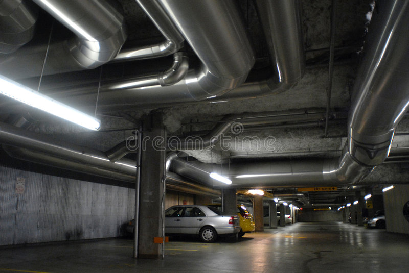 Download Car Parking Lot stock photo. Image of silver, neon, parking - 4171850