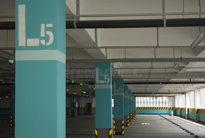 Car parking lot with numbers royalty free stock photos