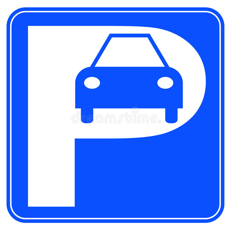 Car parking sign stock vector. Illustration of indication - 6143458