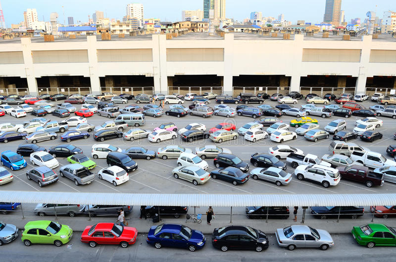 Download Car parking straight angle editorial image. Image of discipline - 23632290