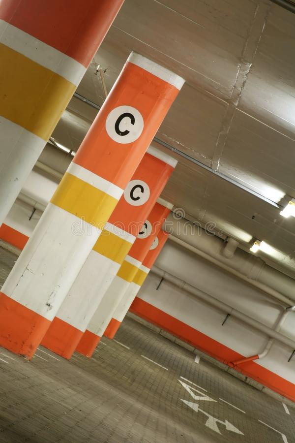 Car Parking Undeground stock photography