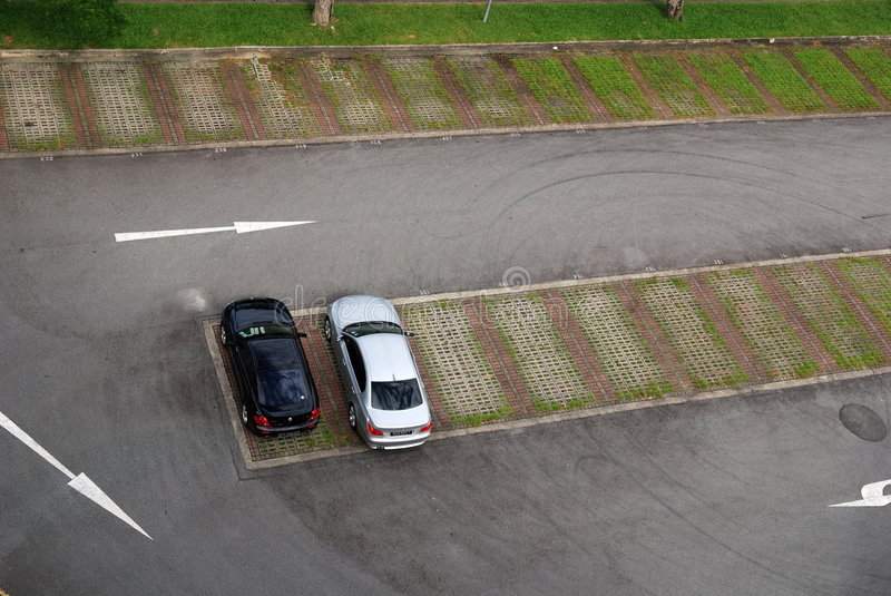 Download Car parks stock image. Image of empty, arrow, vehicle - 2437471