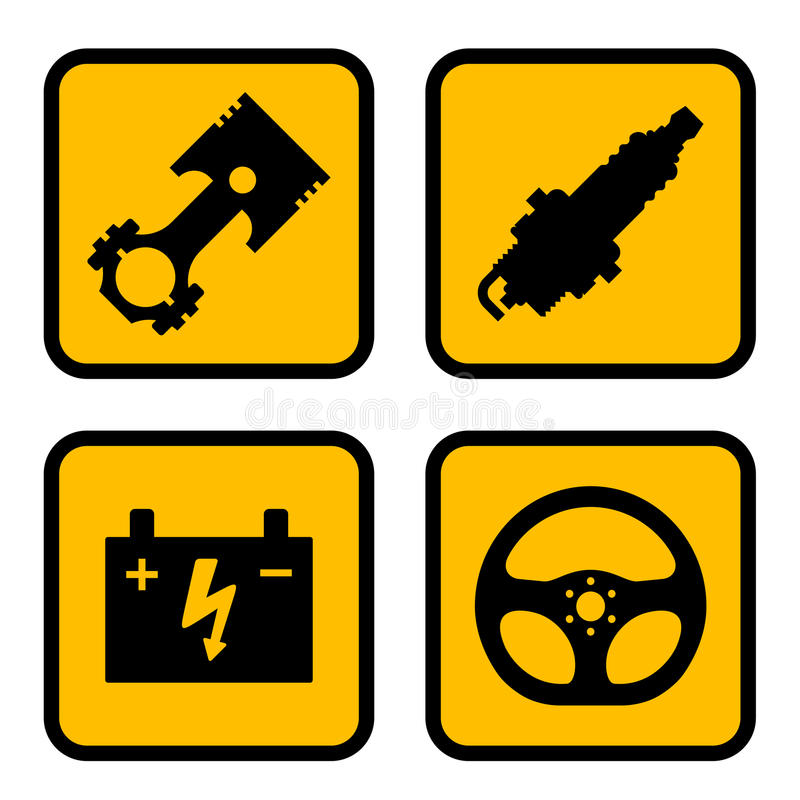 Download Car part symbols stock vector. Illustration of accumulator - 22506462