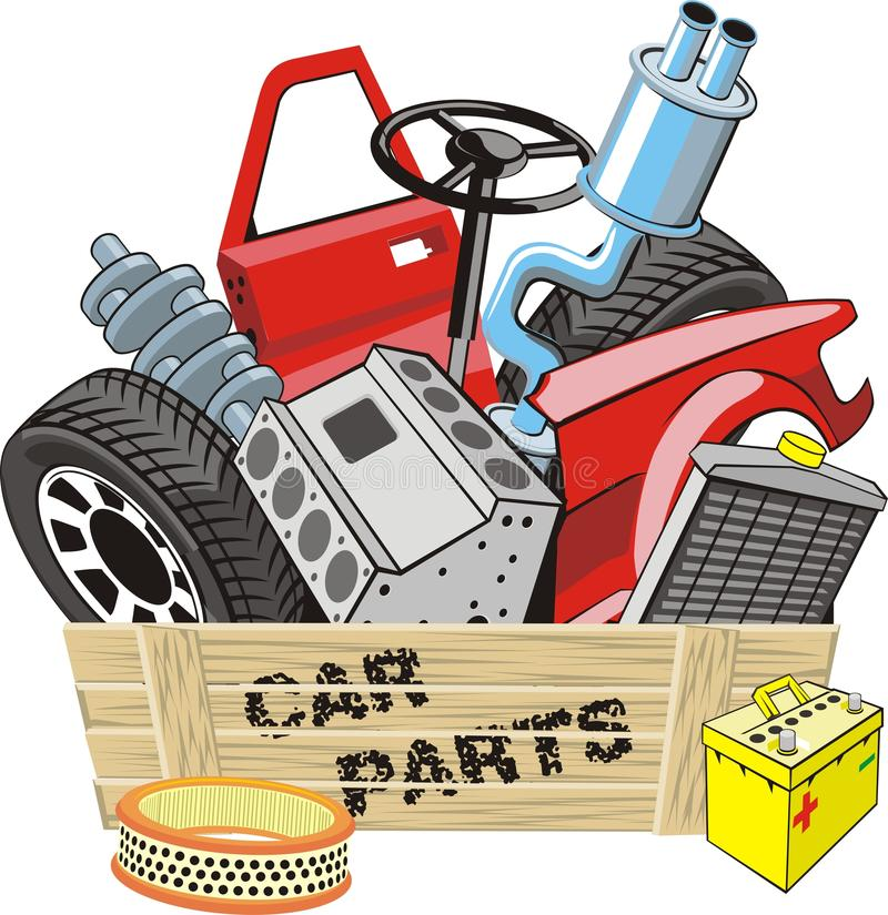 Car parts stock illustration