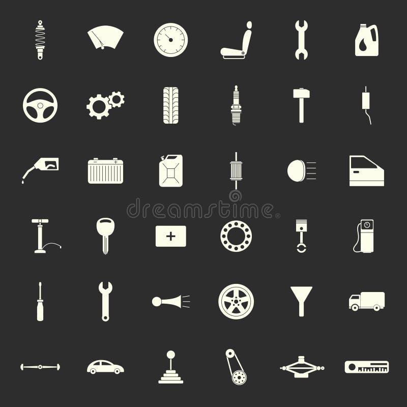 Car parts icons royalty free illustration