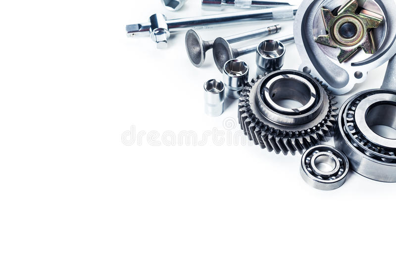 Car parts isolated royalty free stock images