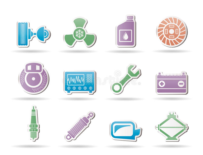 Download Car Parts And Services Icons Stock Vector - Image: 18475152