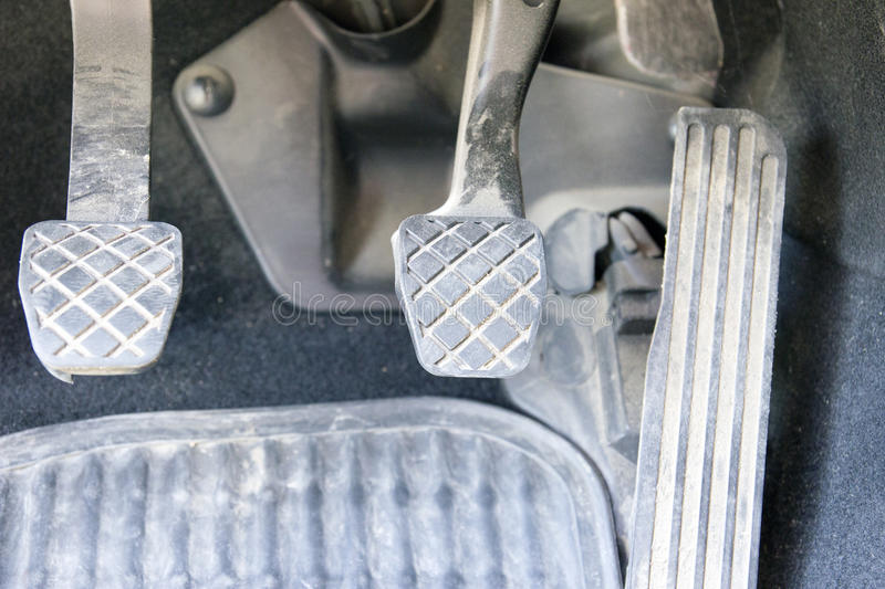 Car Pedals royalty free stock image