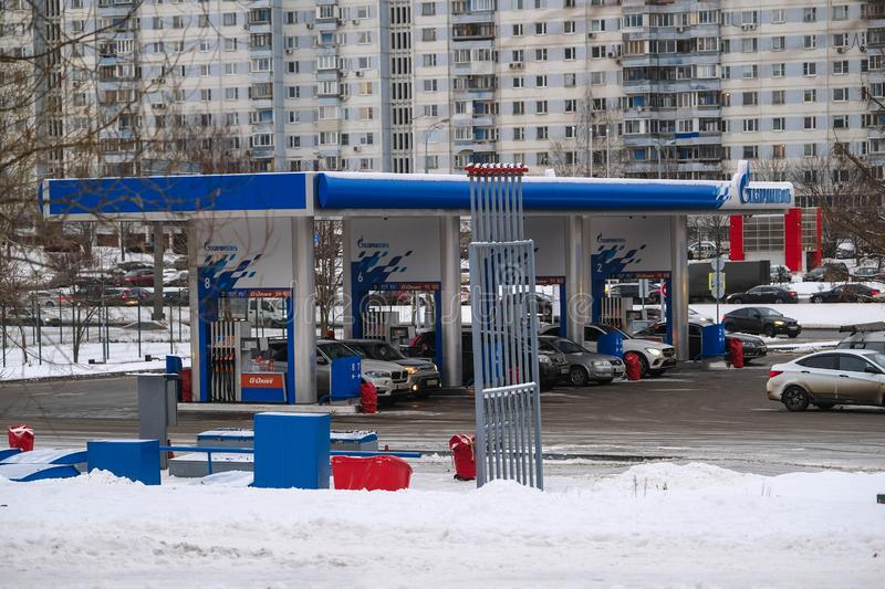 Car petrol station in Moscow stock image