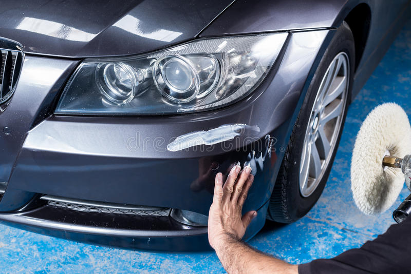 Car polishing series royalty free stock photography
